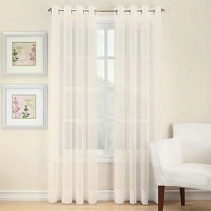 1 pr Sheer Grommet Curtain Panels Ivory
